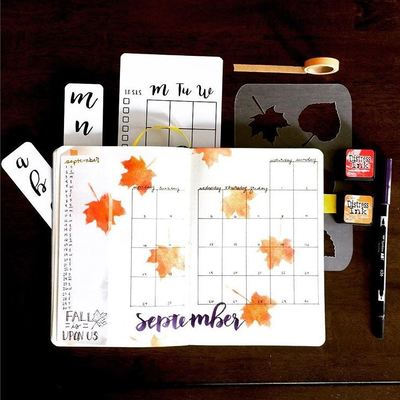 Fall Leaves Monthly Layout