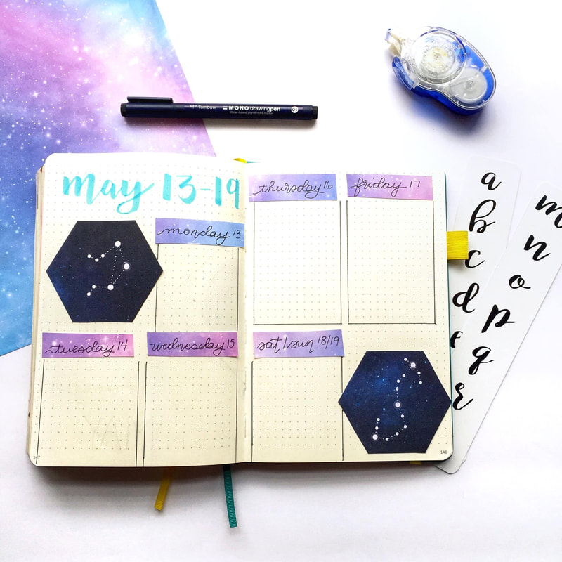 Galaxy Bullet Journal MoxieDori