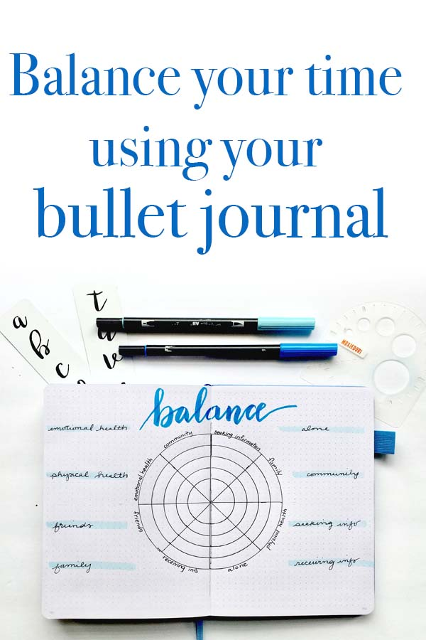 Bullet Journal Balance Wheel
