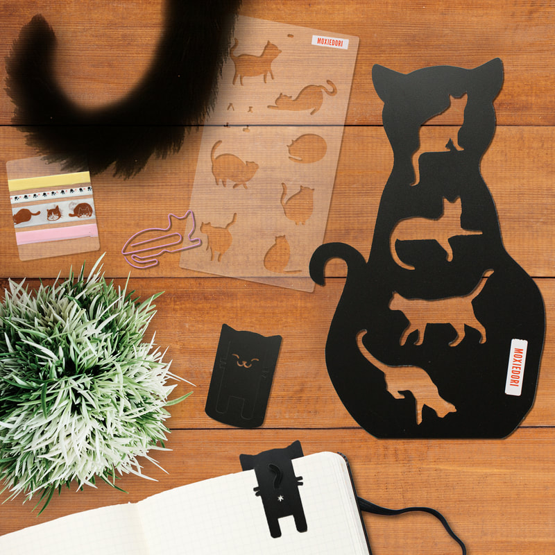 Cat stencil bullet journal