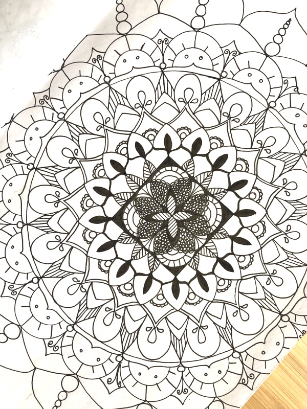 Mandala Shading, Outlining, Accentuating and Texturizing