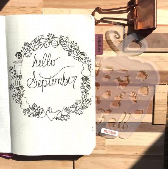 Fall Autumn Bullet Journal Stencil