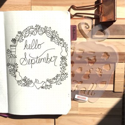 Fall Monthly Header Layout