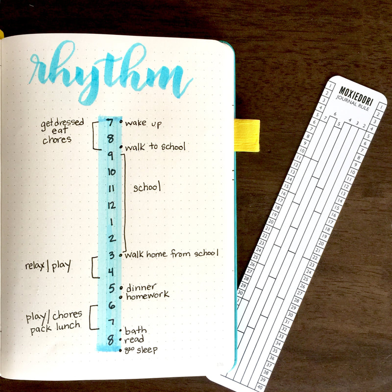Bullet Journal Daily Rhythm Time Blocking