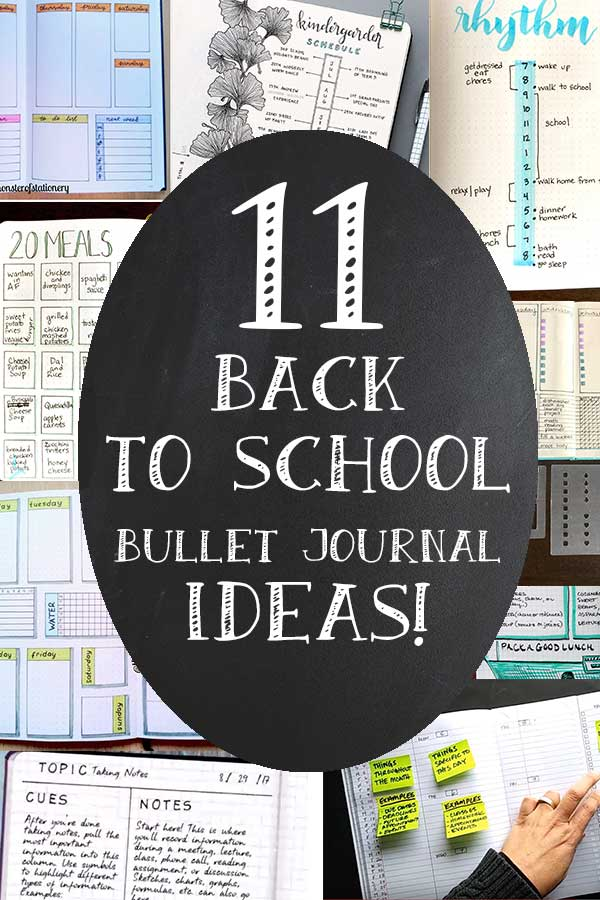 11 Back To School Bullet Journaling Ideas