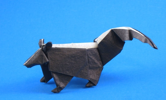 Origami Skunk on Gilad Origami