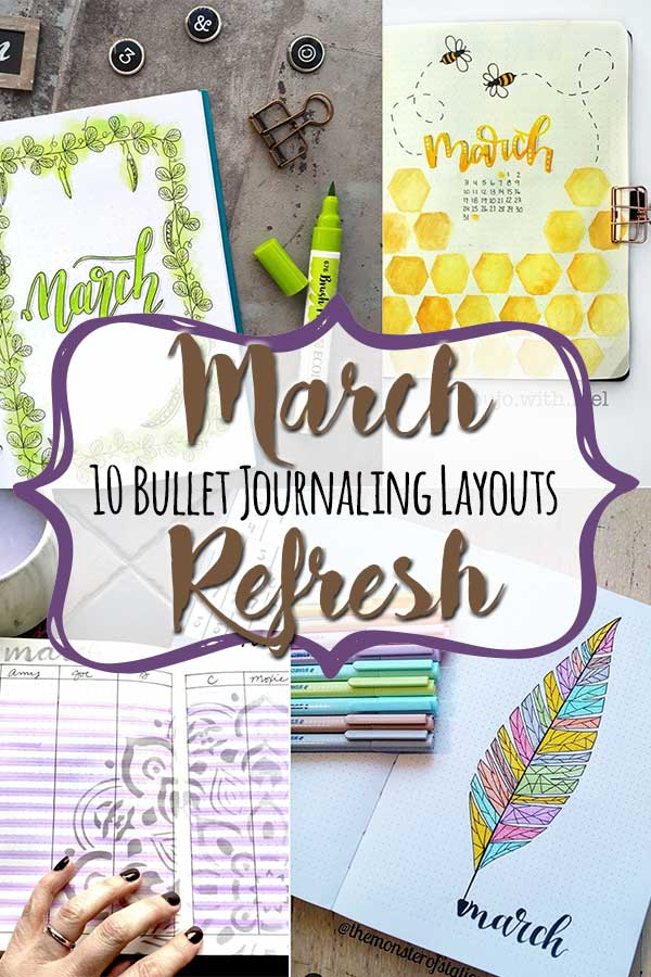 March bullet journal ideas MoxieDori